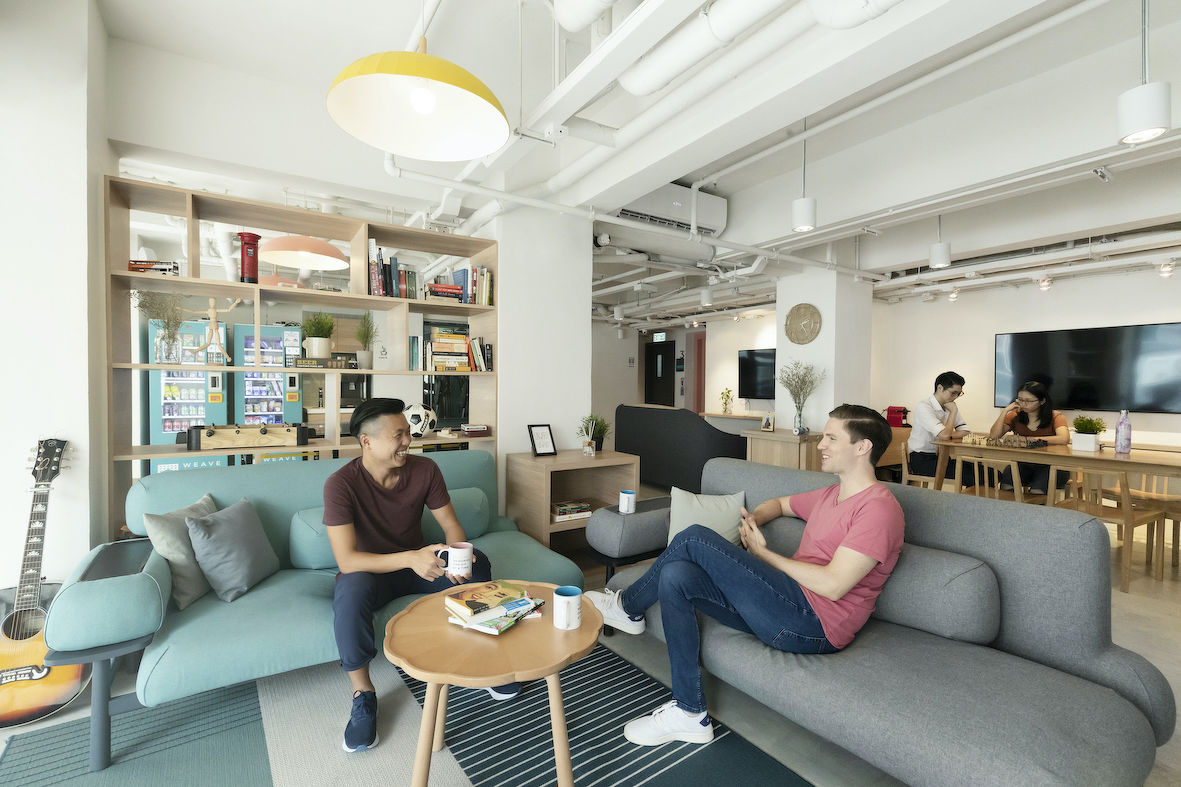 EDGEPROP SINGAPORE - The living room of Weave on Boundary is one of the shared amenities among residents (Photo: Weave Co-Living) - EDGEPROP SINGAPORE