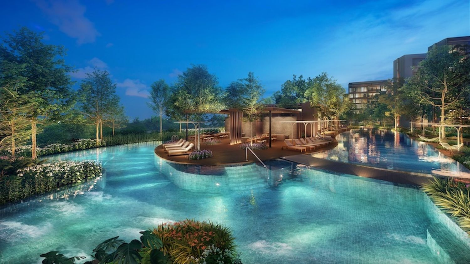 Artist's impression of the jacuzzi lounge - EDGEPROP SINGAPORE