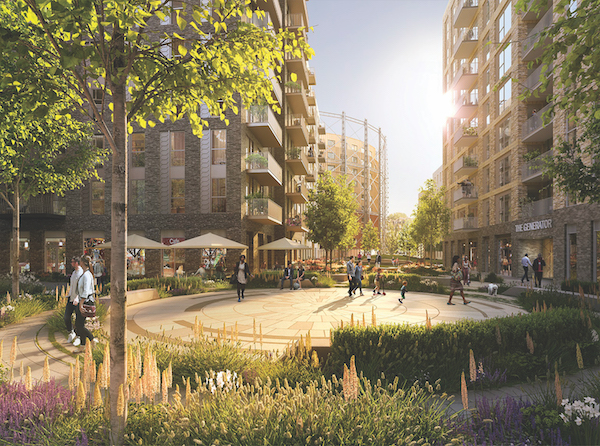 The Oval Village development will create a new London community benefitting from 100,000 sq ft of commercial space, an on-site Tesco Superstore, and residents-only leisure facilities (Photo: Berkeley Homes)