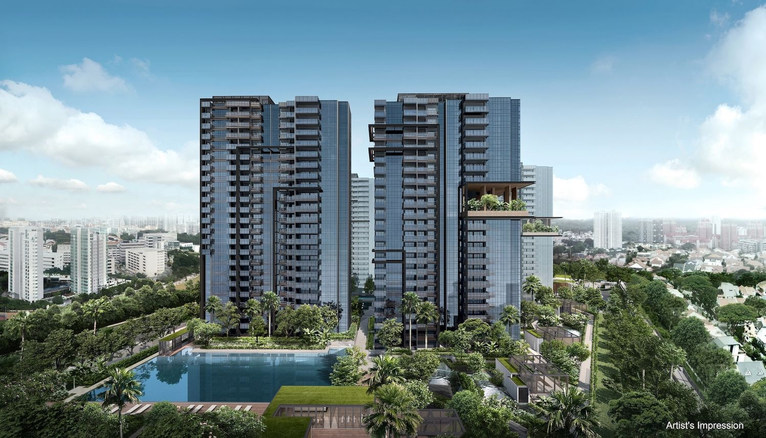 EDGEPROP SINGAPORE - Artist's impression of JadeScape by Qingjian Realty, which has announced that it will reopen its sales gallery on June 19 (Photo: Qingjian Realty)