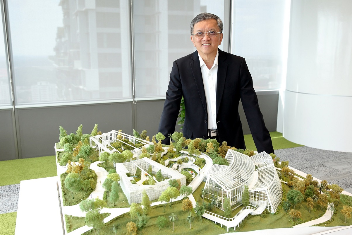 Khew: Sustainability is at the core of what we do here – sustainable building designs and greening projects (Photo: Samuel Isaac Chua/EdgeProp Singapore)