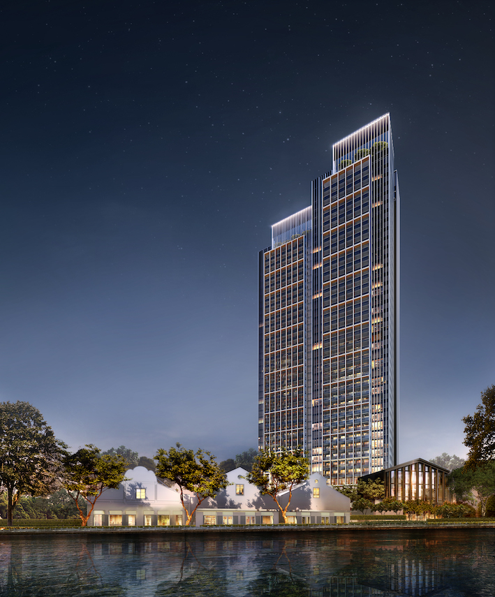RIVIERE - In addition to the twin 36-storey luxury residential tower, there will be a new four-storey block with 80 serviced apartments adjacent to the existing century-old warehouses which will be conserved - EDGEPROP SINGAPORE