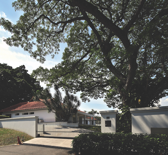 ASTRID HILL GCB - The Good Class Bungalow on Astrid Hill with the majestic rain tree towering above it