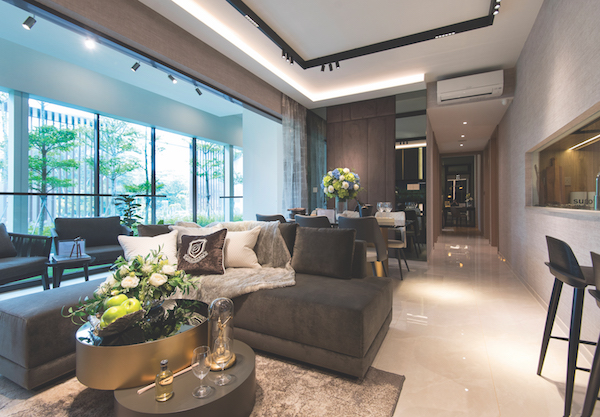 The show suite of a typical four-bedroom unit at Dairy Farm Residences (Photo: Albert Chua/EdgeProp Singapore)