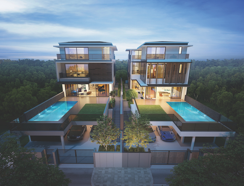 SOILBUILD - Soilbuild Group purchased a 16,028 sq ft, freehold bungalow site on Wilkinson Road in 2015 and redeveloped it into two six-bedroom bungalows with swimming pool and parking for five cars. Both bungalows have since been sold