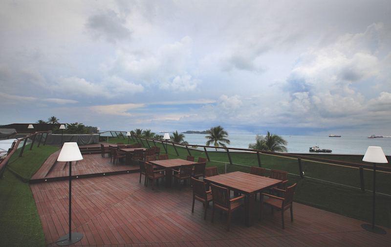 COVE DRIVE - The 10,000 sq ft rooftop entertainment deck at the Copper House on Cove Drive offers panoramic sea views (Credit: Samuel Isaac Chua/EdgeProp Singapore)