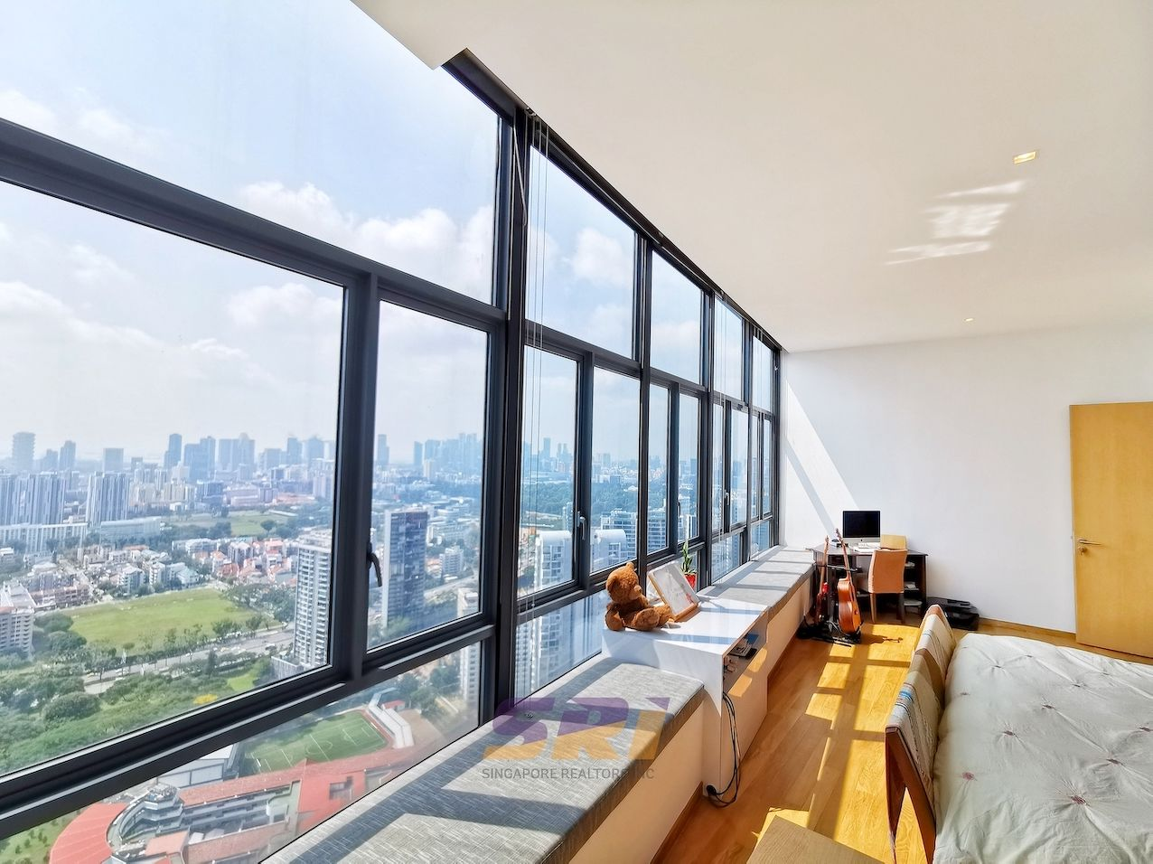 EDGEPROP SINGAPORE - Unblocked view from the master bedroom of the penthouse at Soleil@Sinaran (Photo:SRI)