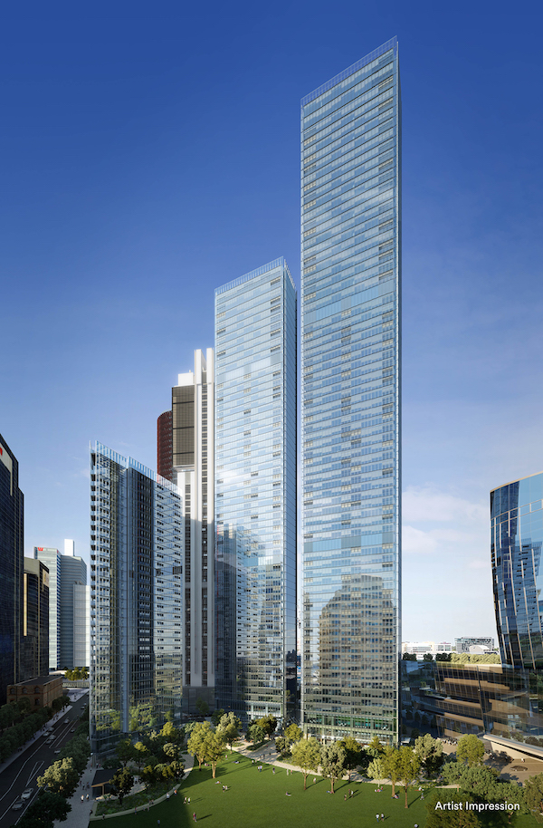 Artist's impression of the exterior of Lendlease's One Sydney Harbour residential tower at Barangaroo South, where a penthouse was recently sold for a record price of A$140 million, which translates into over A$100,000 psm or A$9,290 psf (Photo: Lendlease)