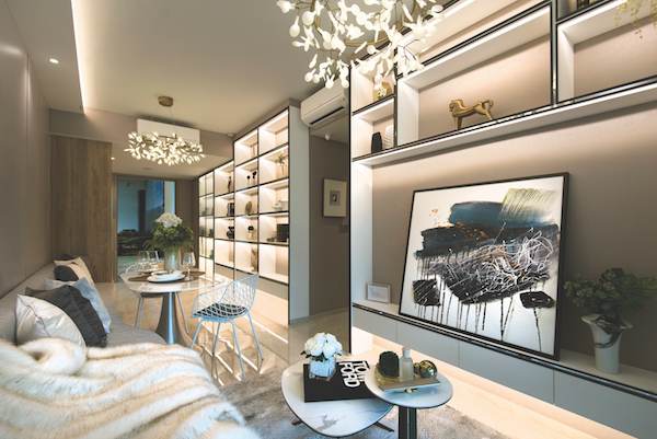 The showflat of a 710 sq ft, two-bedroom unit (Photo: Albert Chua/EdgeProp Singapore)