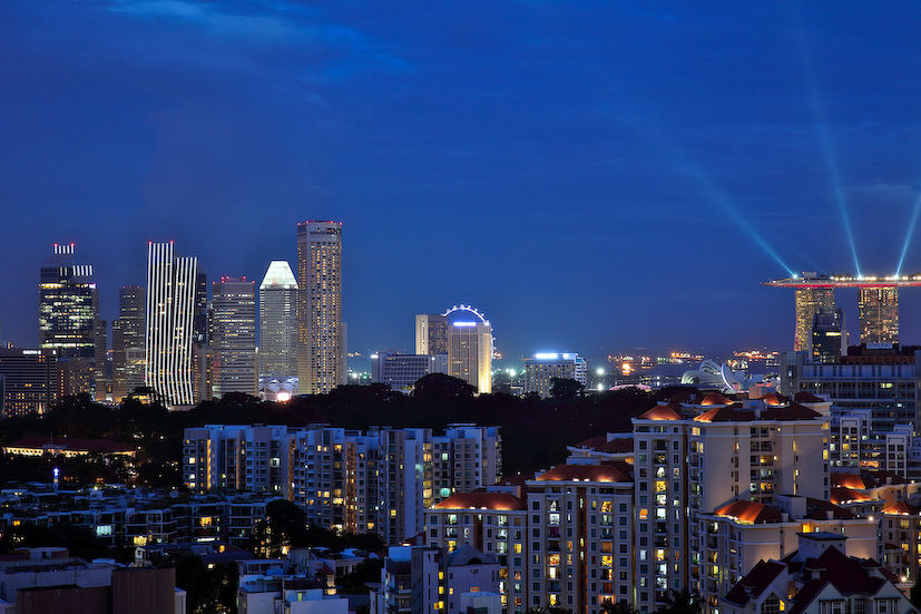 SINGAPORE DOWNTOWN SKYLINE NIGHT VIEW - EDGEPROP SINGAPORE
