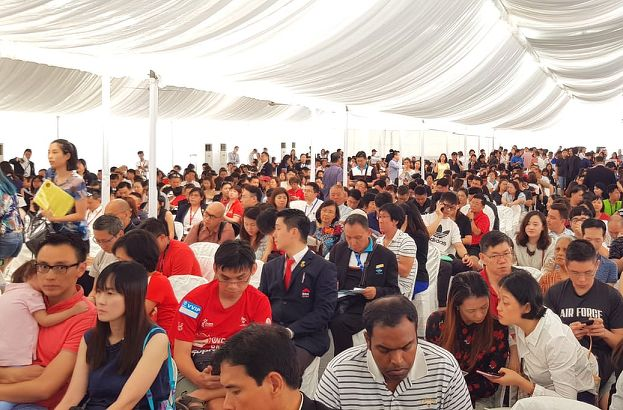 Crowd at balloting tent - EDGEPROP SINGAPORE