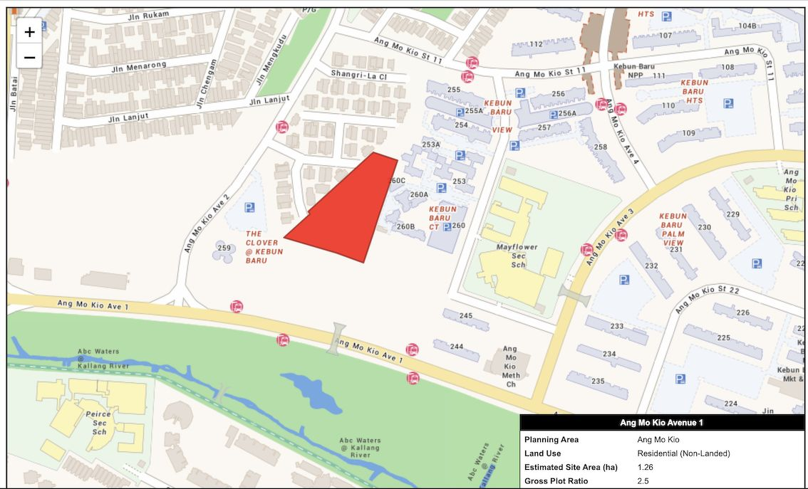 EDGEPROP SINGAPORE - Location map of Ang Mo Kio Avenue 1 site