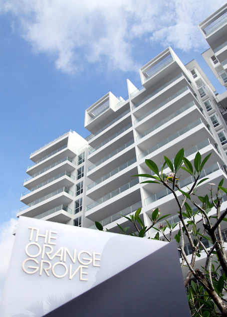 A 3,907 sq ft, duplex penthouse at The Orange Grove will be put up for auction with an indicative price of $8.68 million ($2,222 psf) [Photo: Samuel Isaac Chua/EdgeProp Singapore]