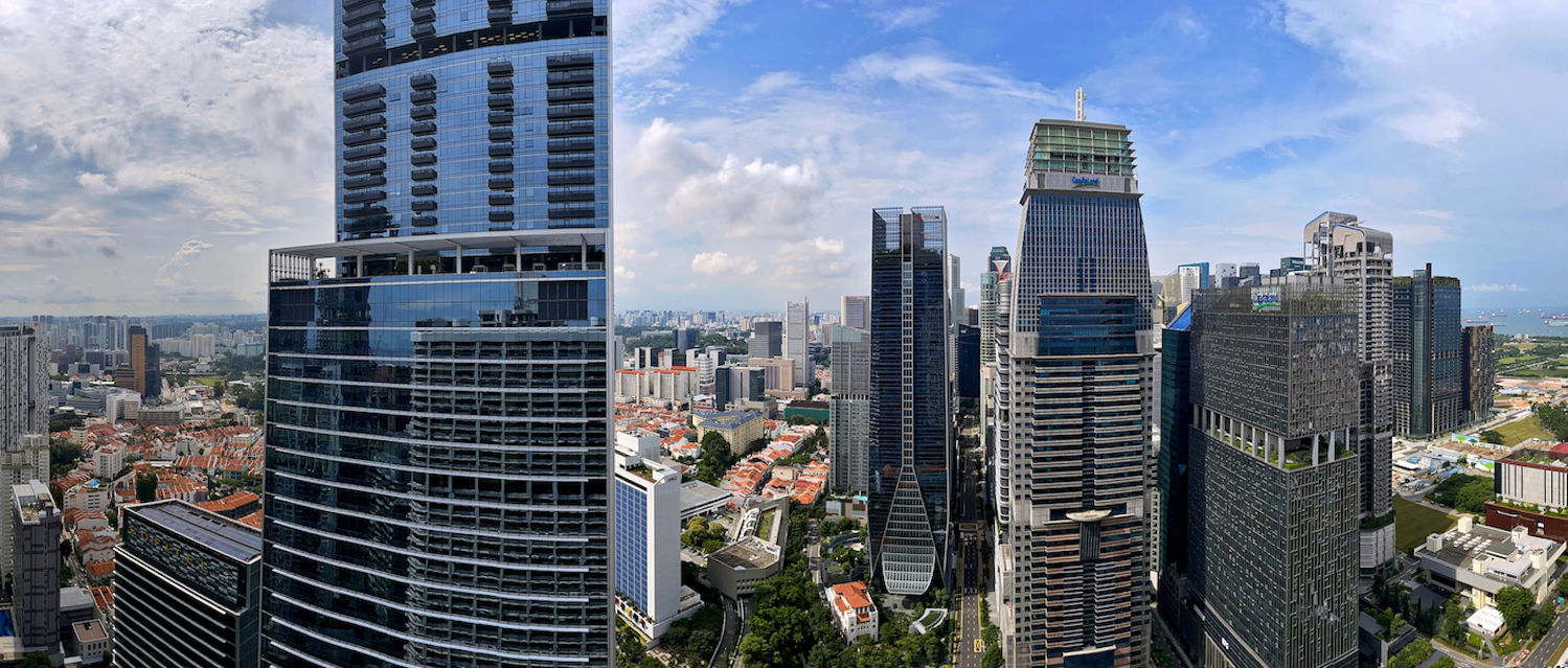View of the city skyline from one of the penthouses of International Plaza - EDGEPROP SINGAPORE