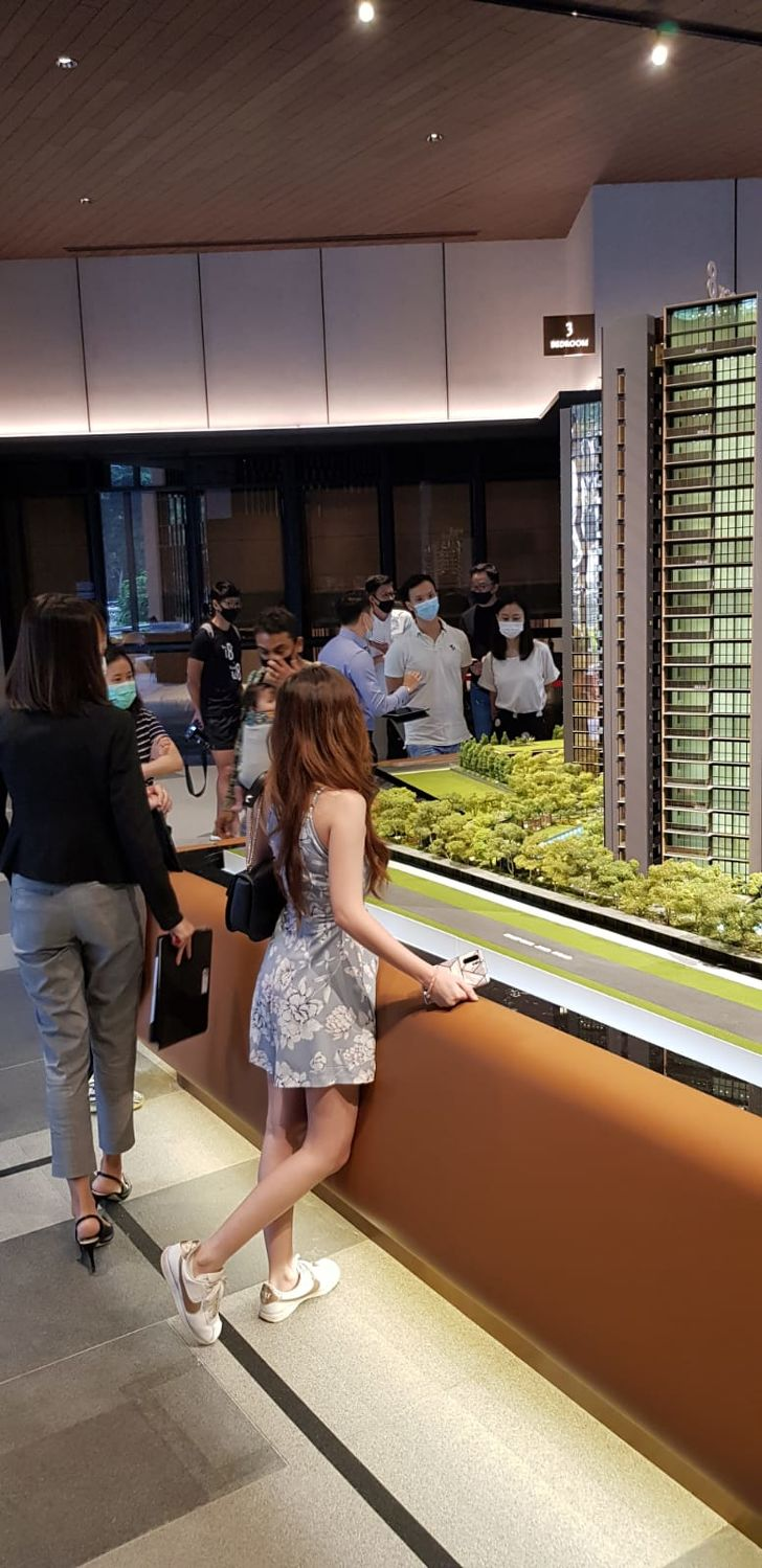 EDGEPROP SINGAPORE - Kopar at Newton sales gallery, where five units were sold over the weekend, including a junior penthouse for $3.7 million (Photo: CEL Development)