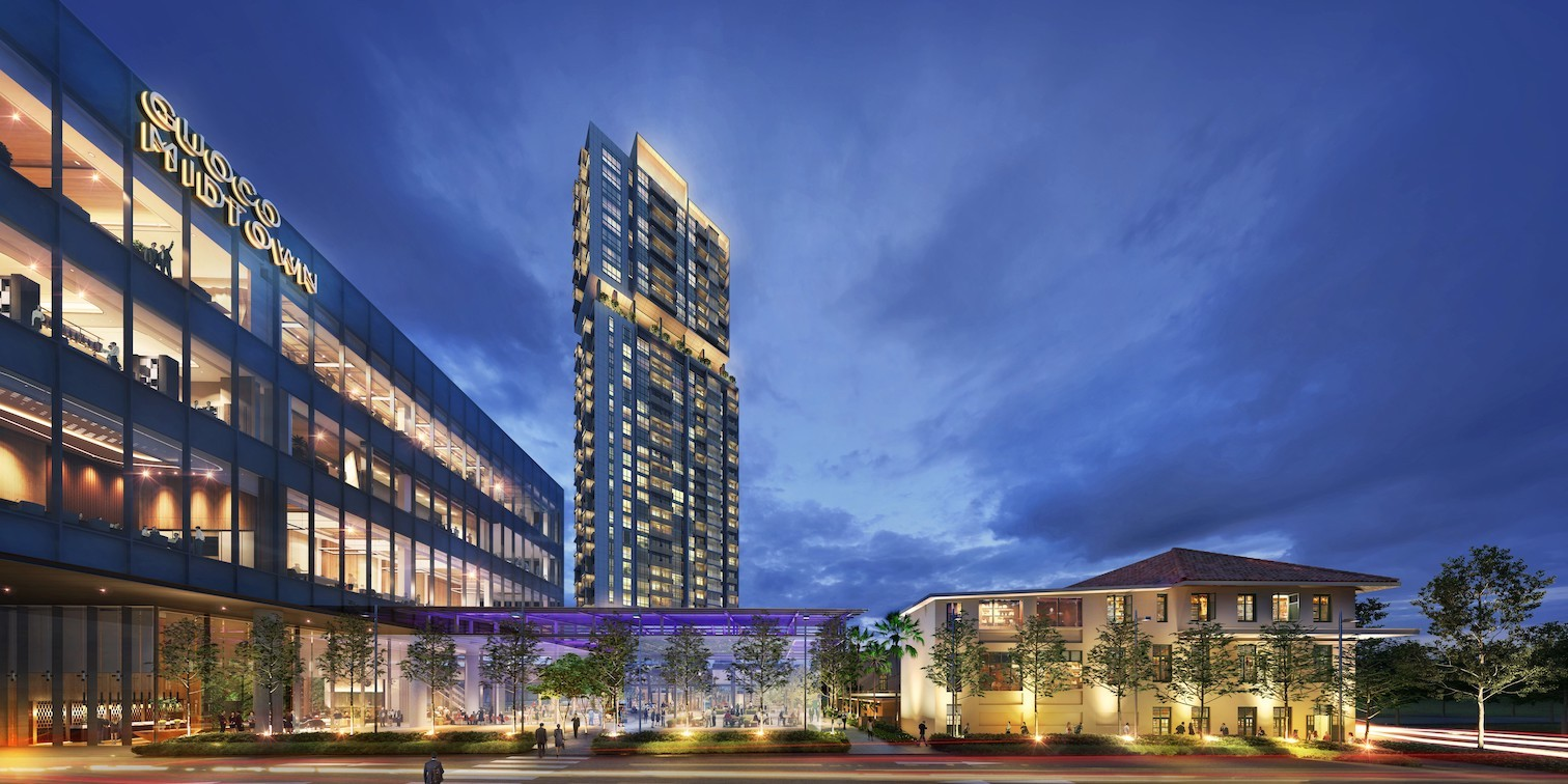 The 219-unit Midtown Bay, the residential tower of Guoco Midtown which was launched in early October, and where prices have hit a high of $3,804 psf (Photo: GuocoLand Singapore)