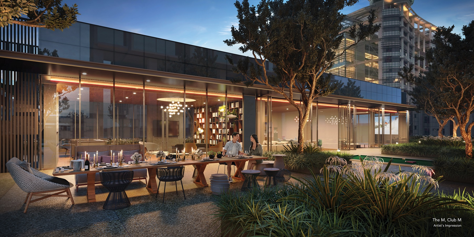 The clubhouse called Club M is over 3,000 sq ft and comes with a residents' lounge, boardroom, multi-purpose room, a gaming room and a baking studio (Photo: Wing Tai Asia) - EDGEPROP SINGAPORE