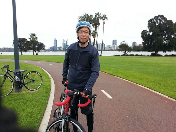 Liam wakes up at 6am, cycles an average of 15km three times a week, and is in the office before 8am every day (Photo: Liam Wee Sin) - EDGEPROP SINGAPORE