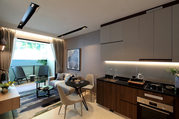 Urban Treasures - Two-bedroom showflat featuring Bosch kitchen appliances (Photo: Samuel Isaac Chua/EdgeProp Singapore)