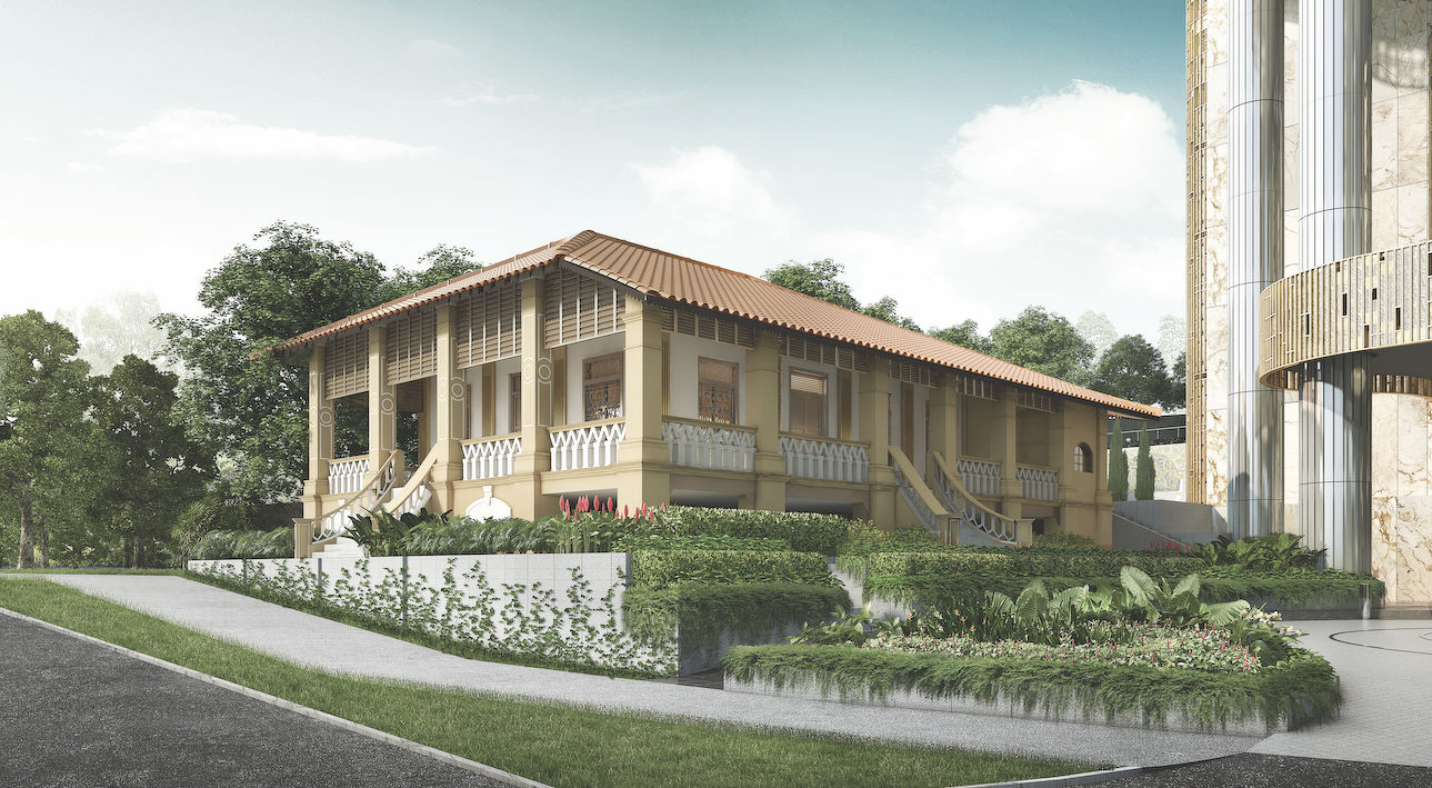 Artist's impression of the bungalow at 67 Cairnhill Road - EDGEPROP SINGAPORE