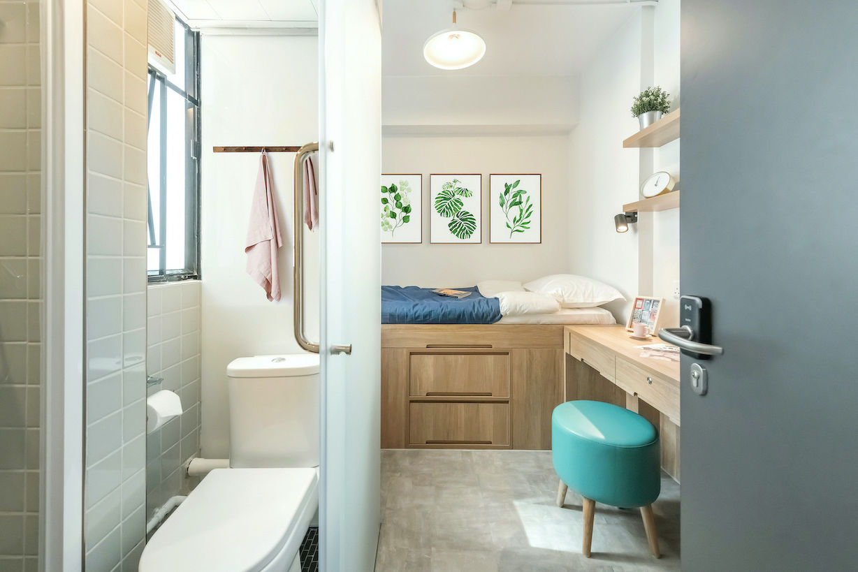 EDGEPROP SINGAPORE -  One of 95 units designed for single occupiers at Weave on Baker that opened last November (Photo: Weave Co-Living)