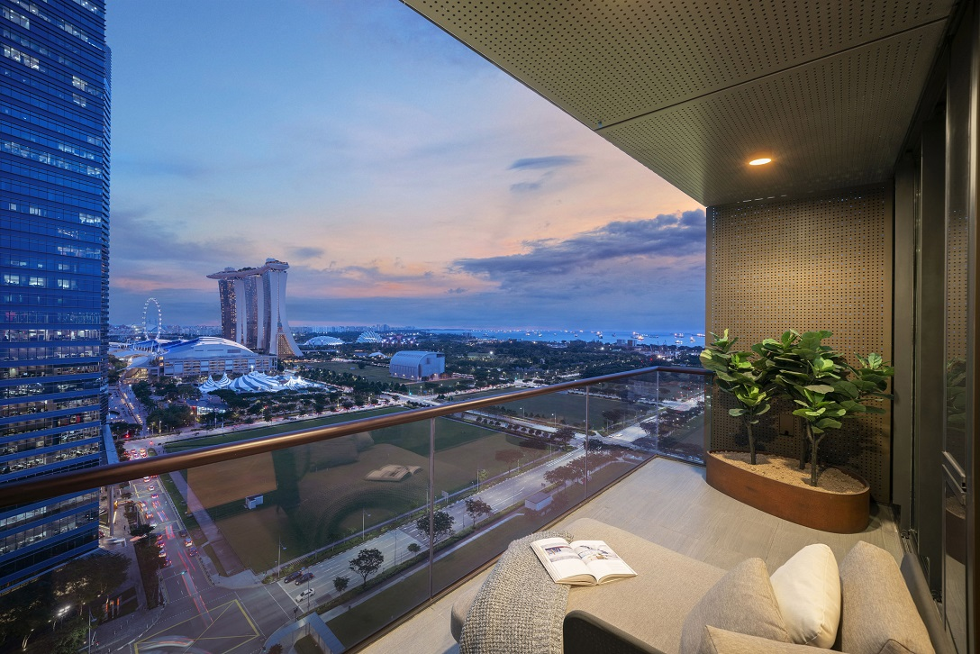 View of the Marina Bay and the future Greater Southern Waterfront in the distance (Photo: M+S) - EDGEPROP SINGAPORE