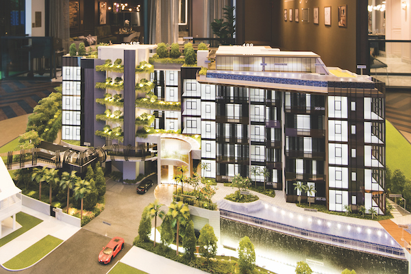 Van Holland will have two infinity-edged swimming pools and an instagram-worthy 10m waterfall at the drop-off area (Photo: Albert Chua/EdgeProp Singapore)