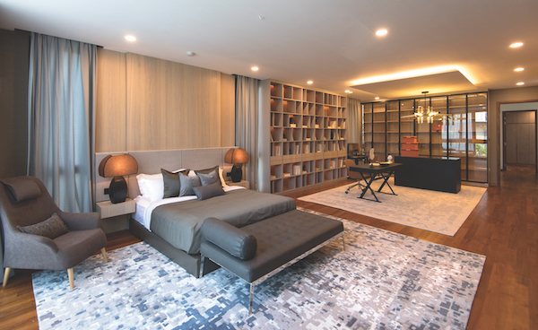 At about 1,000 sq ft, the master bedroom is equivalent to the size of a three-bedroom apartment today (Photo: Albert Chua/EdgeProp Singapore) - EDGEPROP SINGAPORE