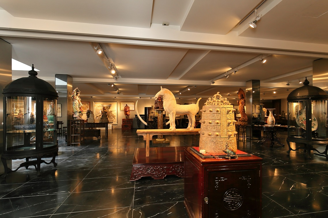 Part of his collection of Chinese antiques and artefacts in the basement level of his gallery (Photo: Samuel Isaac Chua/EdgeProp Singapore)