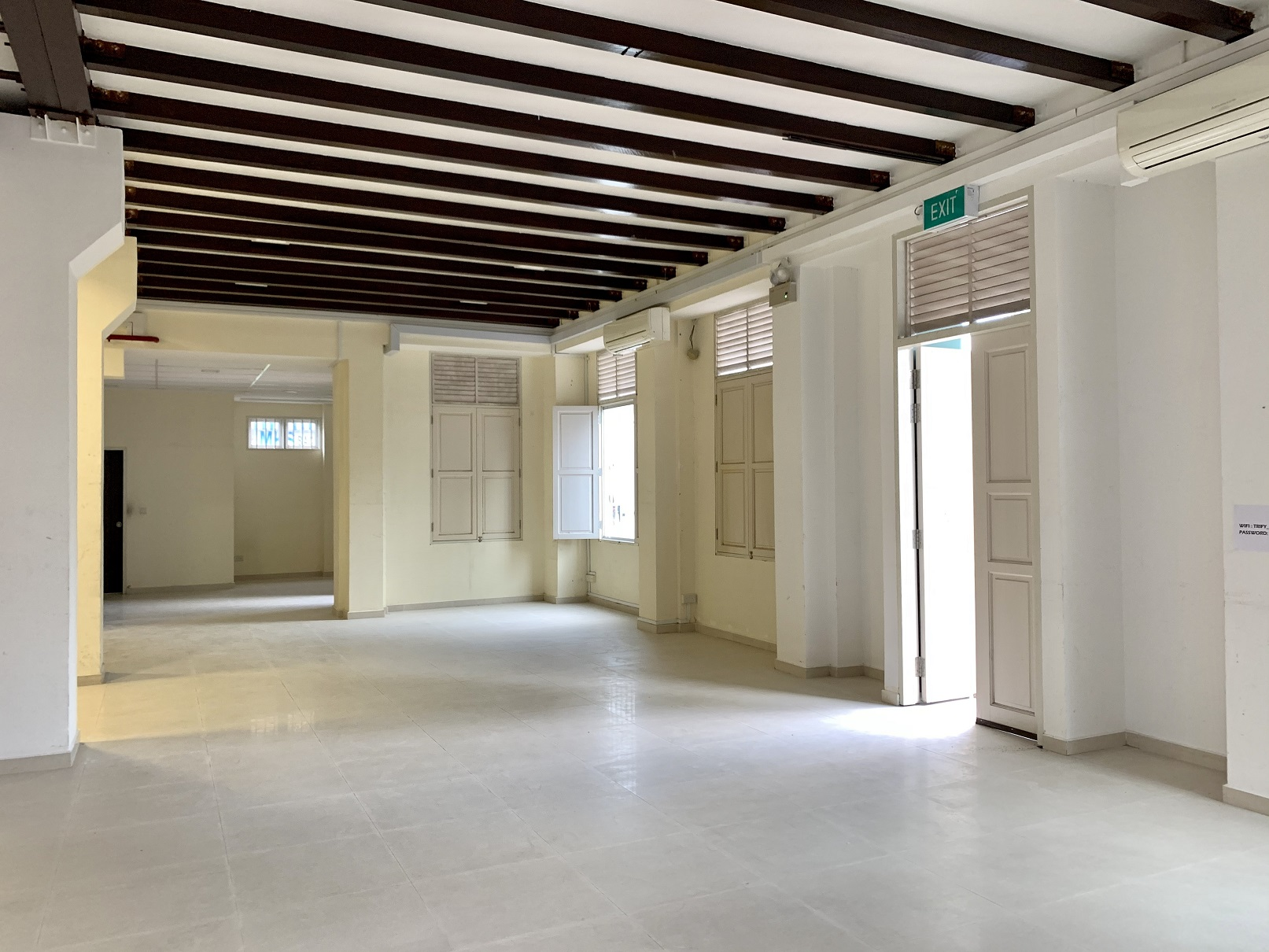 The first level of the shophouse has been approved for F&B use (Photo: Pearly Tan/PropNex Realty)