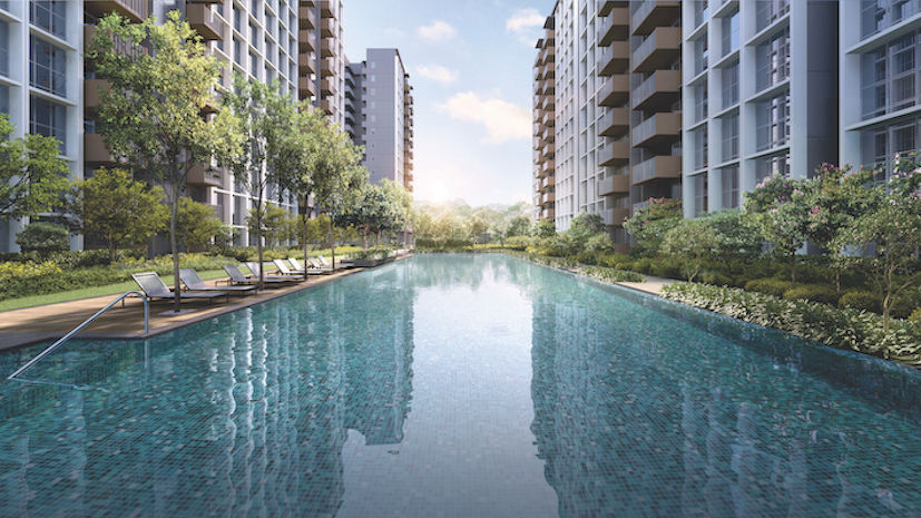 Artist's impression of the 50m lap pool at Parc Greenwich - EDGEPROP SINGAPORE