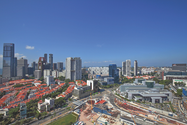 View of the Tanjong Pagar area, the SGH Medical Campus and the future Greater Southern Waterfront from One Pearl Bank (Photo: Samuel Isaac Chua/EdgeProp Singapore)