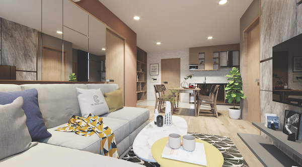 Artist's impression of a two-bedroom apartment at Centro Condo Bangsaen (Photo: Venture Global Holding)