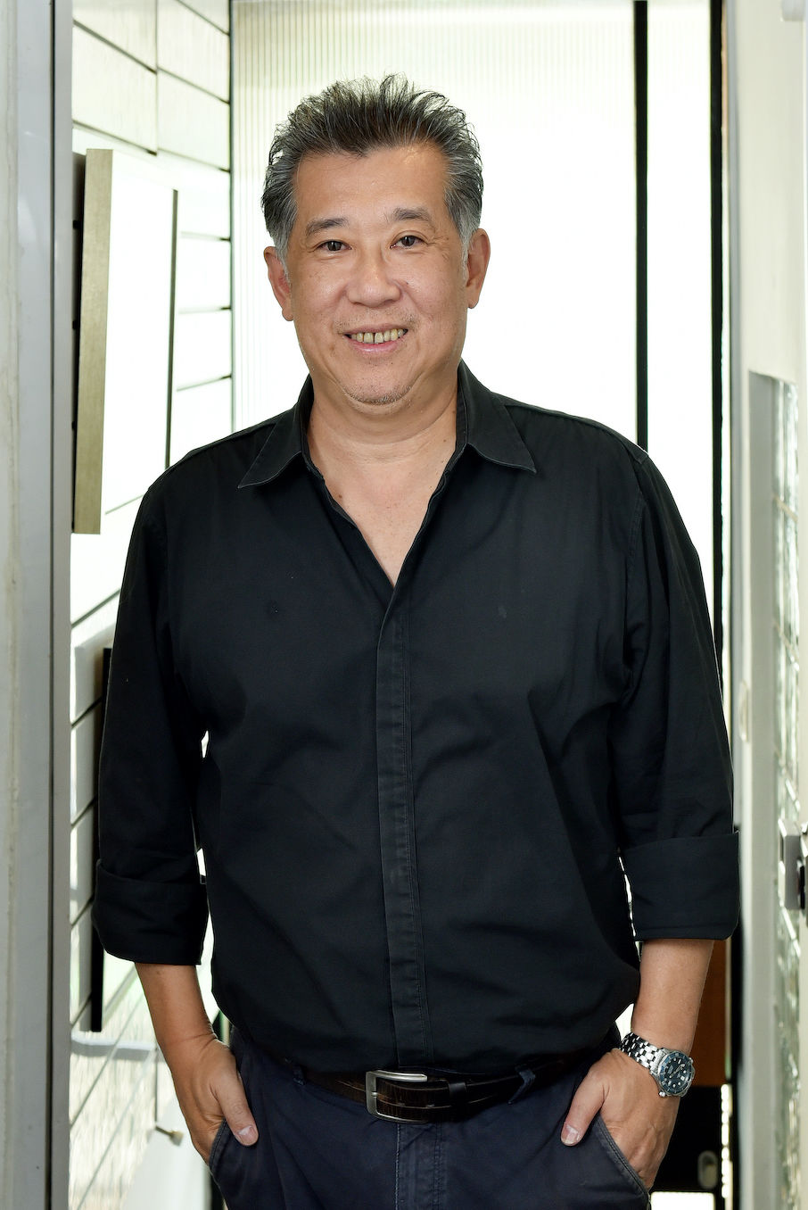 Rene Tan of RT+Q: Locating the master bathroom at the front of the house, which is usually given to the principal rooms is a good example of RT+Q's design approach: occasionally, we put the wrong thing at the right place (Albert Chua/EdgeProp Singapore)