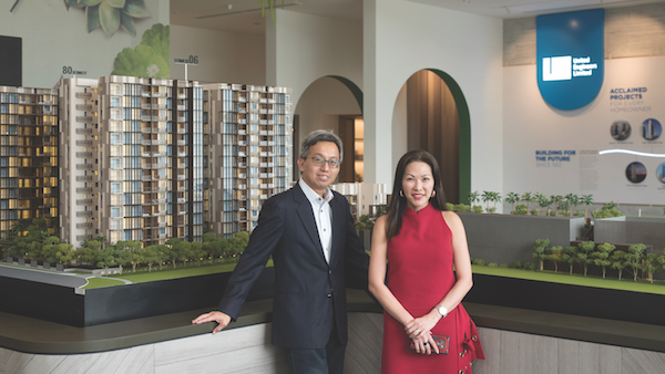 Roy Tan and Stephanie Chua of UEL, the developer of the 460-unit Dairy Farm Residences (Photo: Albert Chua/EdgeProp Singapore)