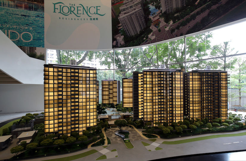 EDGEPROP SINGAPORE - The Florence Residences by Logan Property, where 38 units were sold during the first 45 days of the circuit breaker (Photo: Samuel Isaac Chua/EdgeProp Singapore)