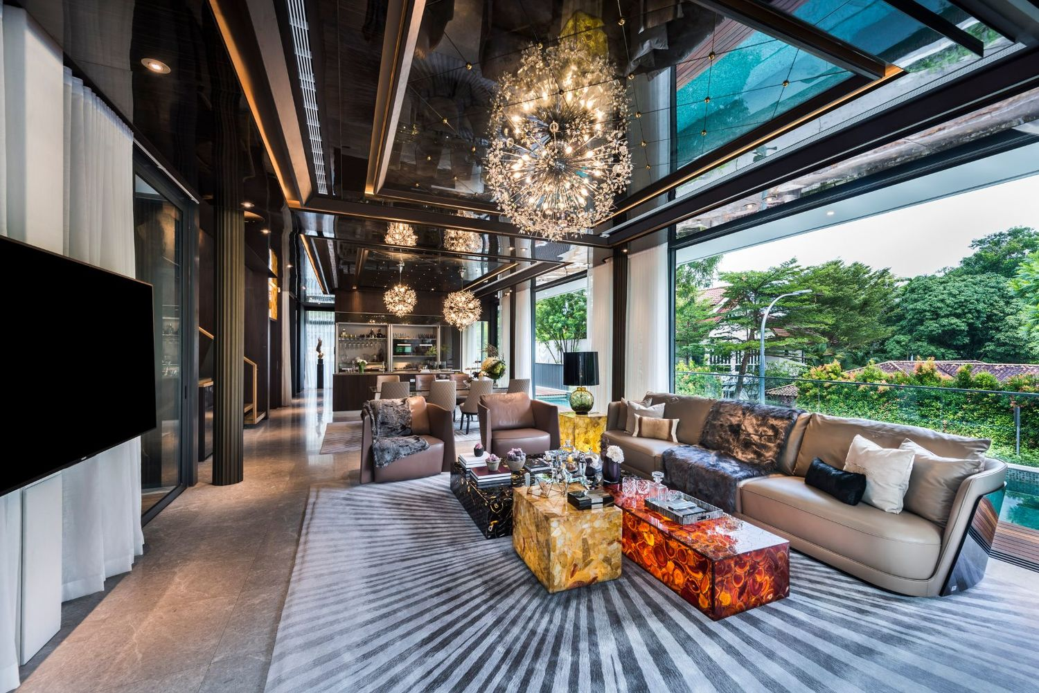 The living room of a pool villa - EDGEPROP SINGAPORE