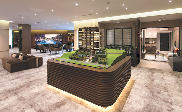 EDGEPROP SINGAPORE - The sales gallery of Juniper Hill, the second of three projects in Allgreen Properties' Bukit Timah Collection that was designed by Farm (Photo: Albert Chhua/EdgeProp Singapore) - EDGEPROP SINGAPORE