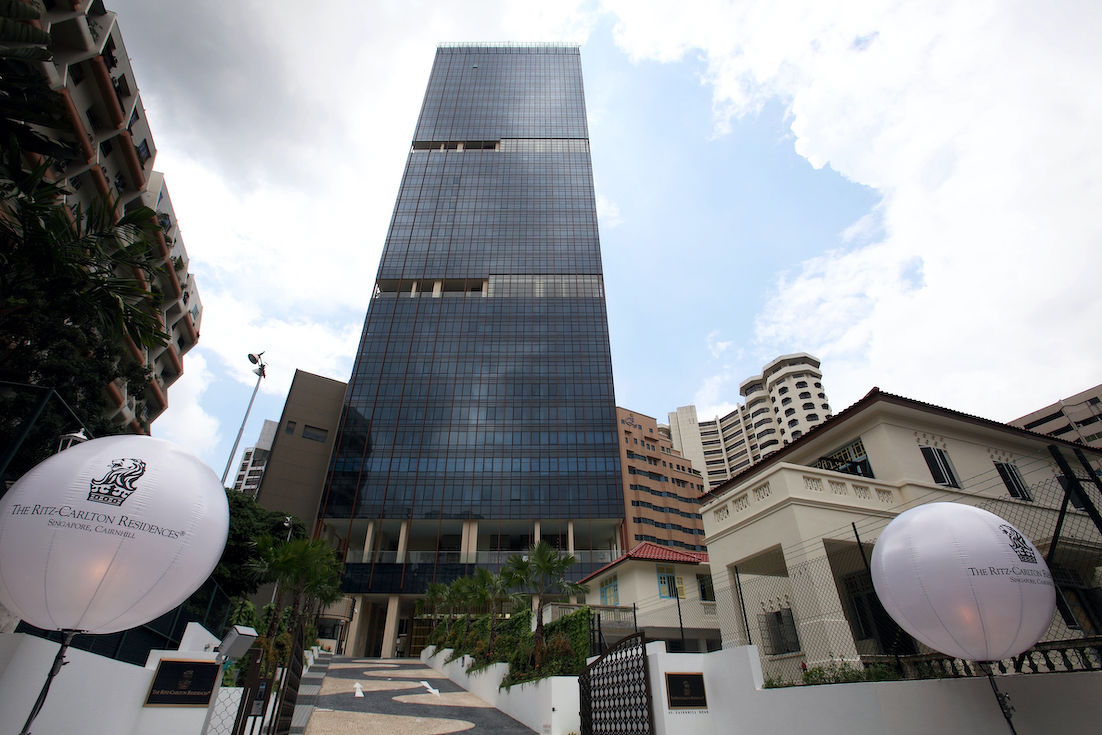 The Ritz-Carlton Residences, where the latest transaction was for a 3,057 sq ft, four-bedroom unit on the 28th floor that fetched $10.5 million or $3,435 psf (Photo: Samuel Isaac Chua/EdgeProp Singapore)