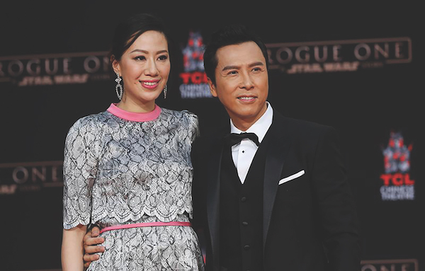 Actor Donnie Yen and his wife Cissy Wang were in Singapore househunting for a property in the $5 million to $10 million range
