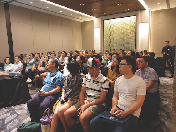 Attendees at one of the investment talks during the Singapore Property Festival on Sept 28