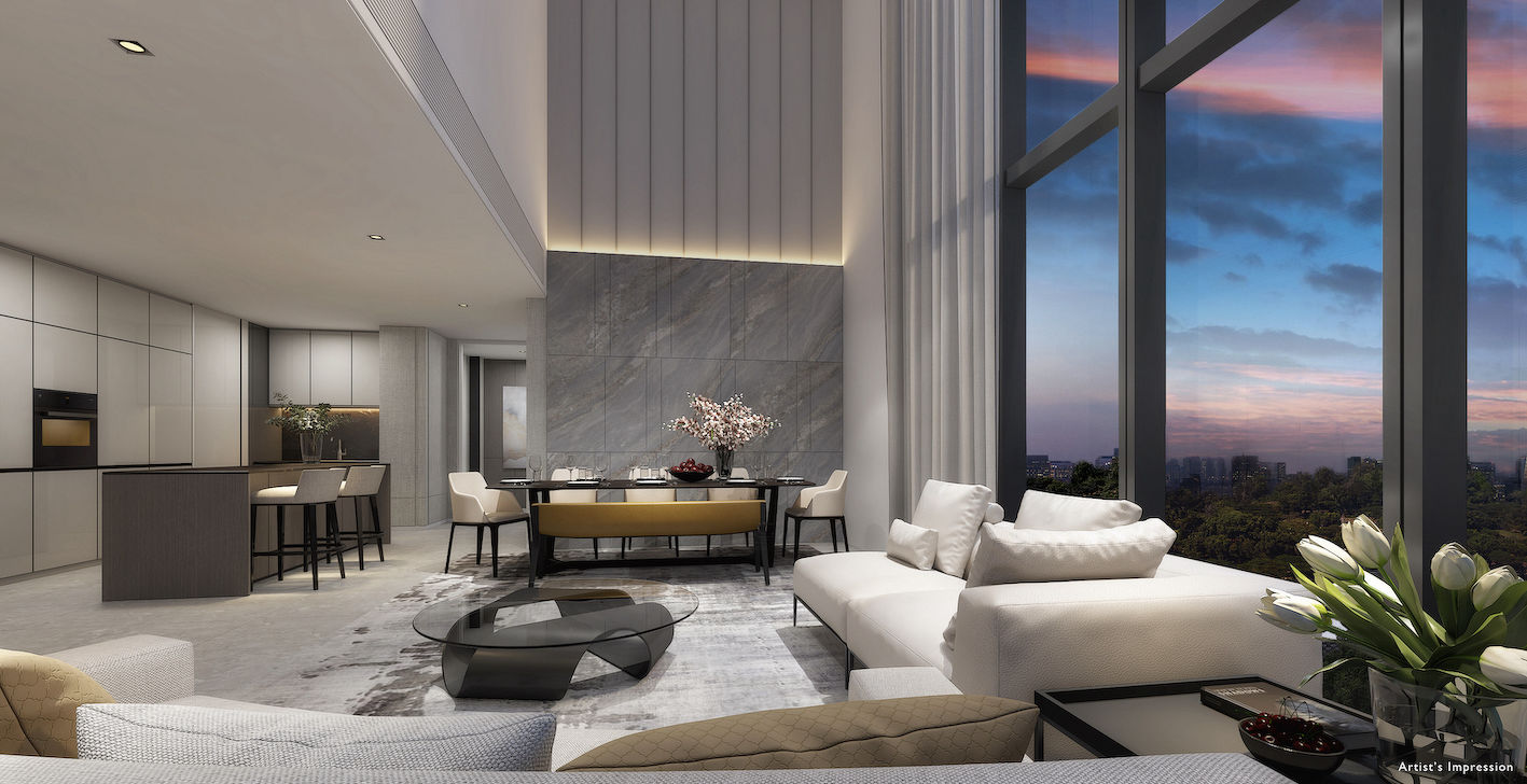 Artist's impression of an apartment with views of the city skyline - EDGEPROP SINGAPORE