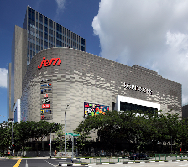 Jem, an office and retail complex in Jurong East, was developed and completed by Lendlease in 2013; the mall is 99.1% leased today (Photo: Samuel Isaac Chua/EdgeProp Singapore)