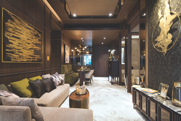 Van Holland  - Bookmatched Italian marble flooring for the living room of every unit (Photo: Albert Chua/EdgeProp Singapore)
