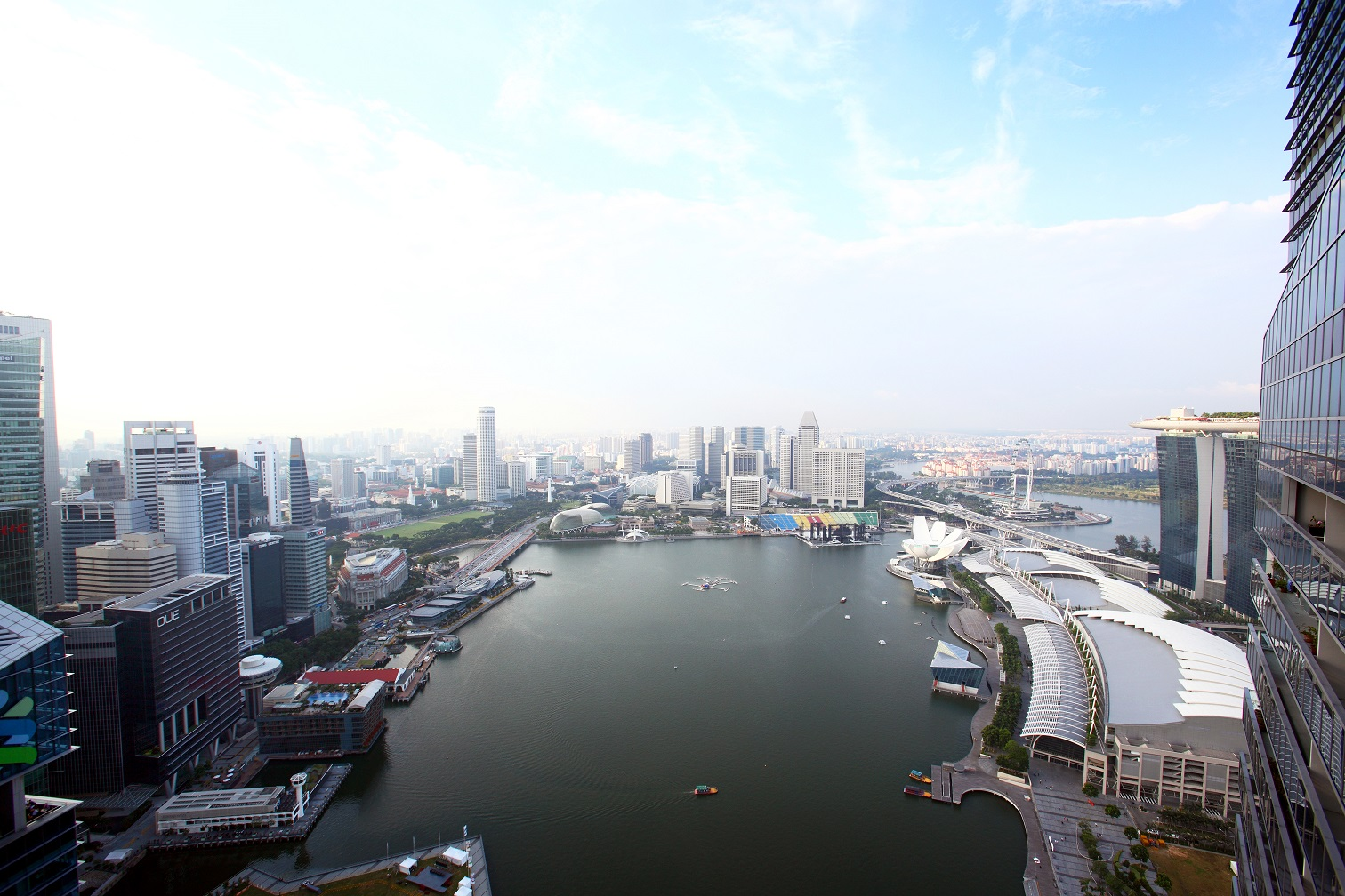 View of Marina Bay from one of the high-floor units at Marina Bay Residences (Photo: Samuel Isaac Chua/EdgeProp Singapore)