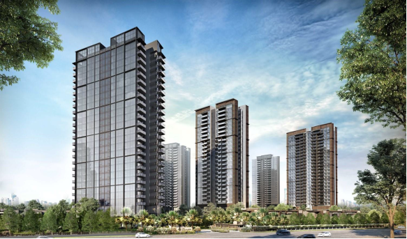 SINGHAIYI - Artist's impression of the 1,468-unit Parc Clematis, which will have nine 24-storey towers as well as 12 strata terraced and eight strata detached houses