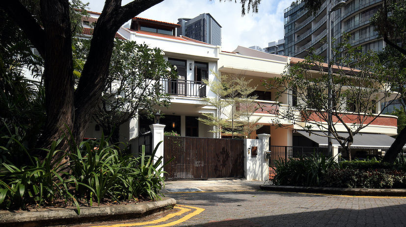 The terraced houses at the Emerald Hill Road Conservation Area, where the one on the left was sold for $10.5 million last September. (Photo: Samuel Isaac Chua/EdgeProp Singapore)