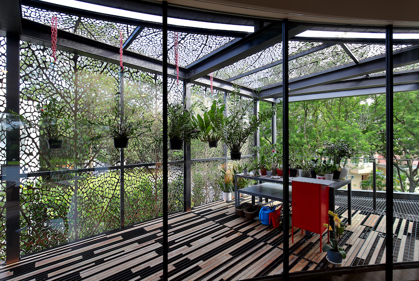 """GCB GALLOP PARK - The """"green house"""" is an extension of the master bedroom"""