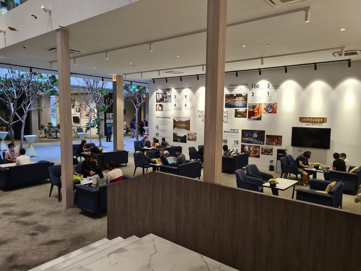 EDGEPROP SINGAPORE - JadeScape sales gallery which saw 130 viewing appointments and 11 units sold over the past three days (Photo: Qingjian Realty)