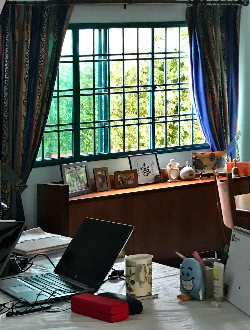 Ong's private study at home, where she works when it gets too warm outside (Photo: Ong Choon Fah/Edmund Tie)
